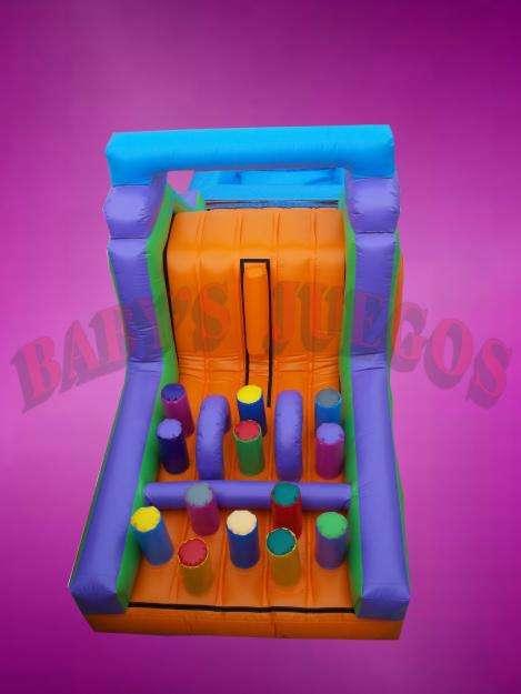 Inflable tobogan acuatico con obstaculos