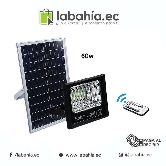 Reflector LED 60w con batería panel solar