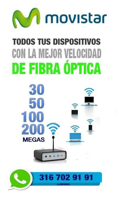 INTERNET FIBRA ÓPTICA MOVISTAR - TELEVISION - LINEA FIJA ASESOR
