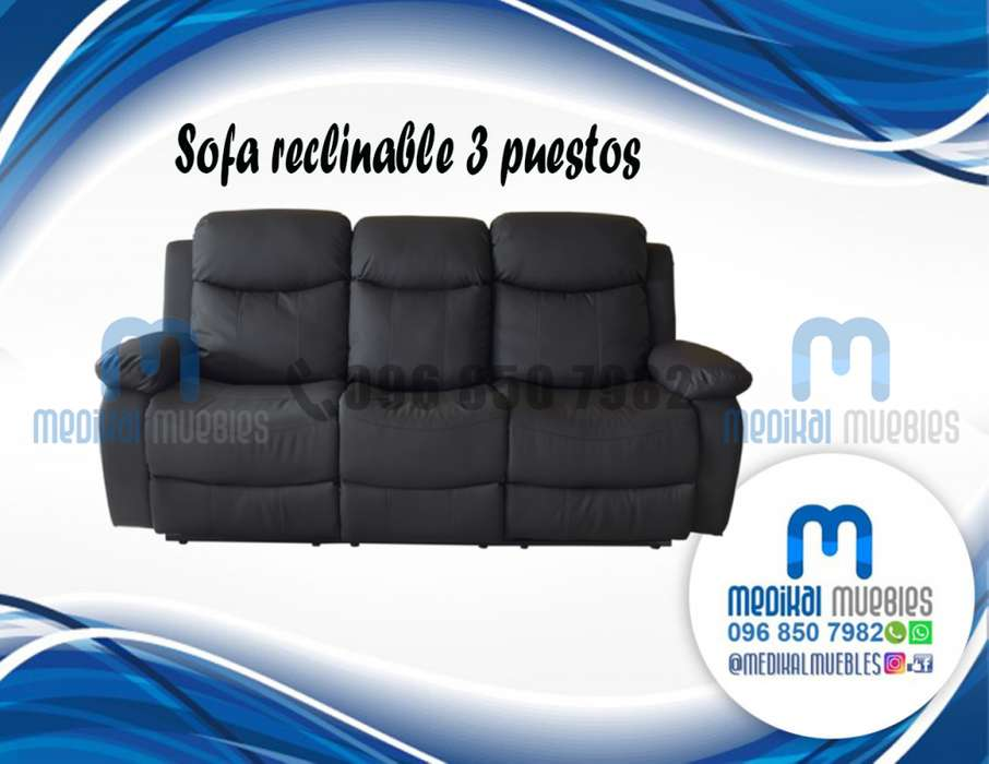 SOFA RECLINABLE 3 PUESTOS