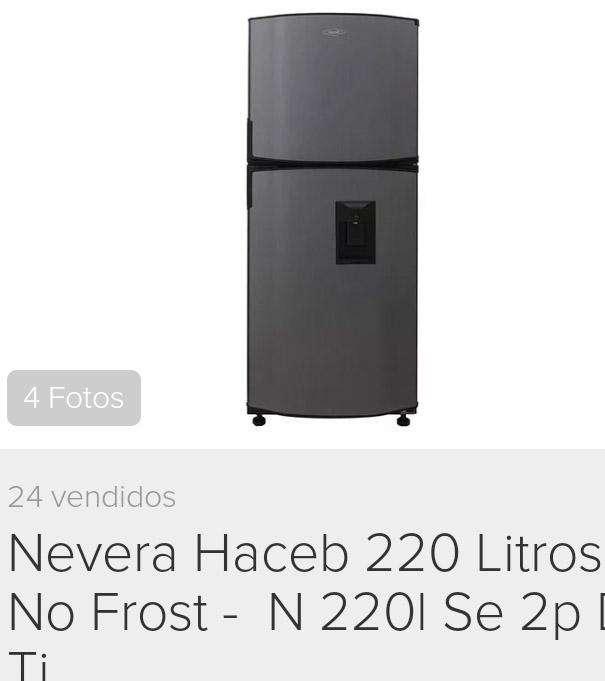 Refrigerador Haceb de 220 lts