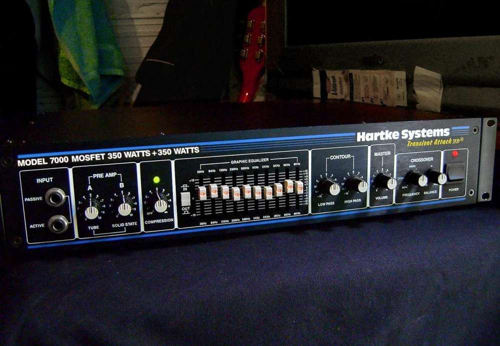 amplificador CABEZAL BAJO HARTKE 7000 VALVULAR MADE IN USA 700w N0 Fender Yamaha Ampeg ibanez peavey jbl marshall squier