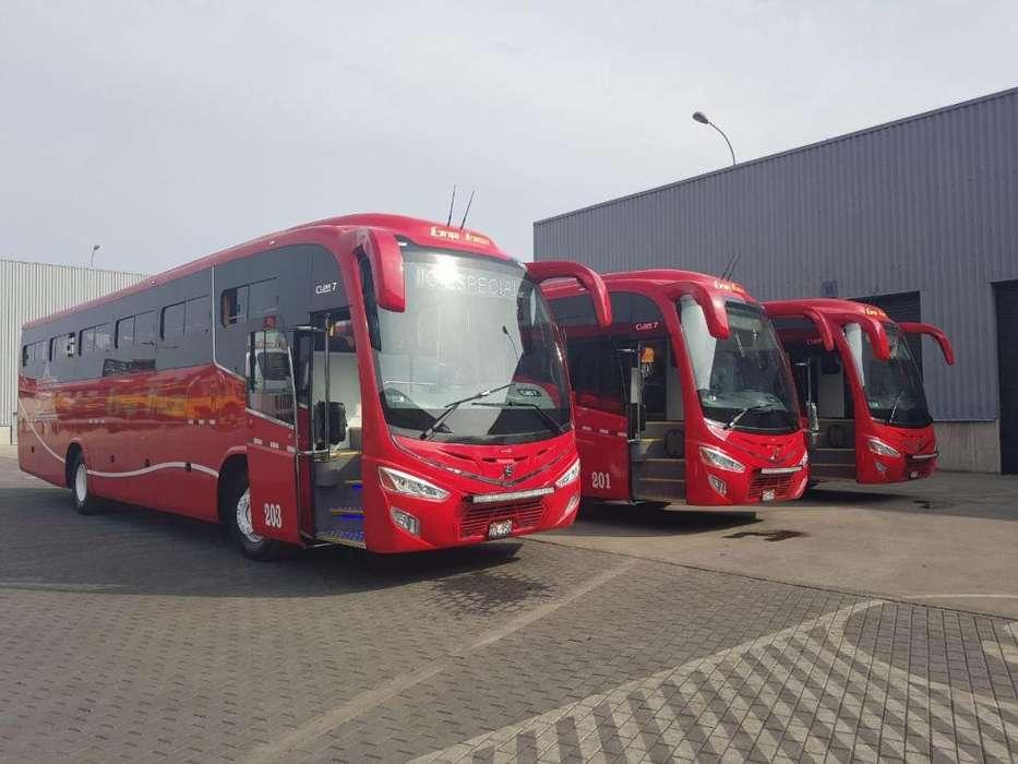 Venta de Bus Volvo, Mercedes, Scania, Volkswagen Turístico e Interprovincial, Transporte de Personal Mina