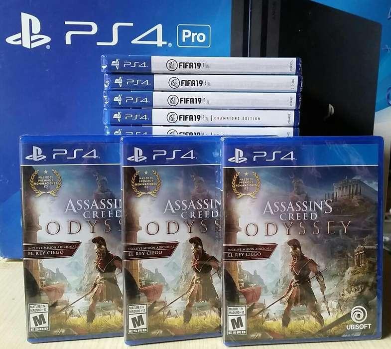Assassins Creed Odyssey Ps4 Nuevo Sellado Stock