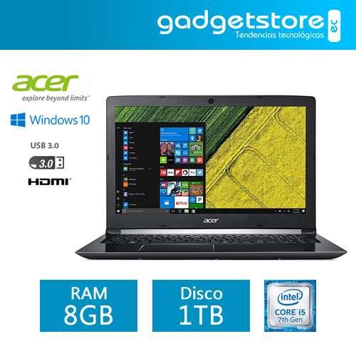 LAPTOP ACER ASPIRE A515 15.6 1080P CORE I57200U 8GB DDR4 1TB WINDOWS 10