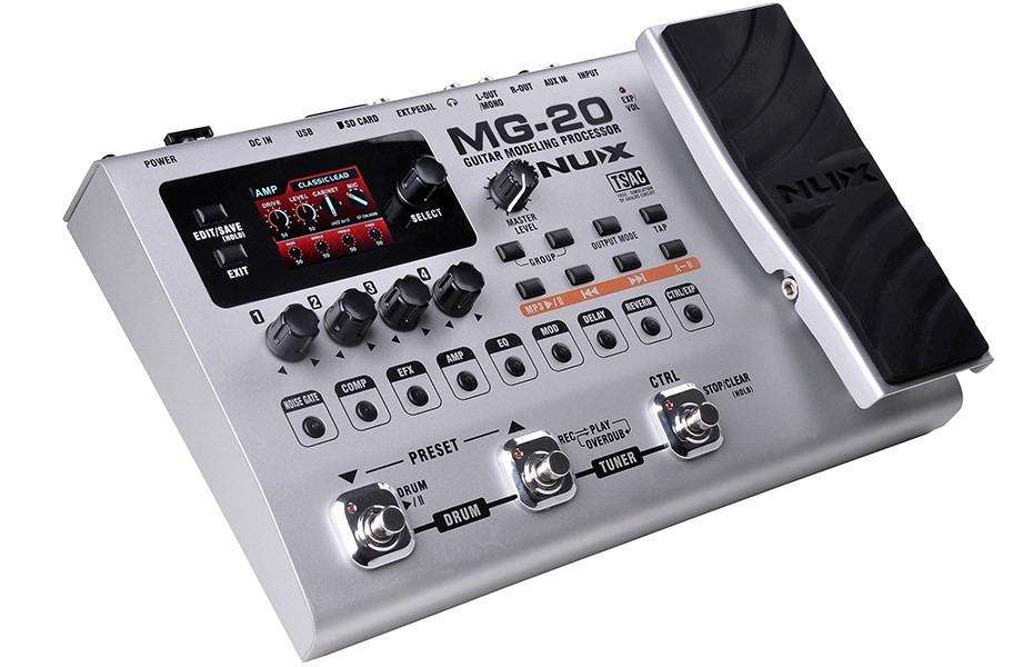 Pedal <strong>multiefectos</strong> incluye LOOPER, DRUMS, MP3 player
