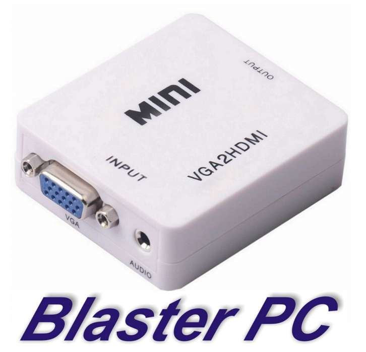 Adaptador Conversor Vga A Hdmi Full Hd Audio Zona Alto Rosario BLASTER PC