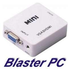 Adaptador Conversor Vga A Hdmi Full Hd Audio Zona Alto Rosario BLASTER PC