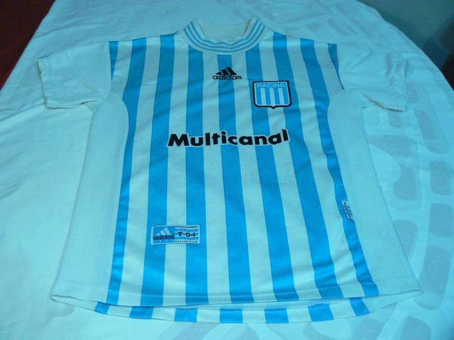 abfd4737b Camiseta Titular de Racing Club Temporada 1998 Adidas Talle 04 L de Niño o  Dama