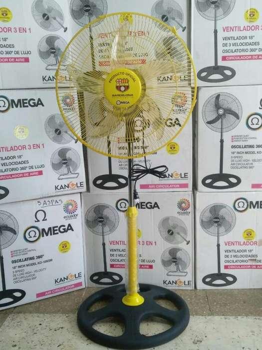 Ventilador Pedestal Omega Aire 3 en 1