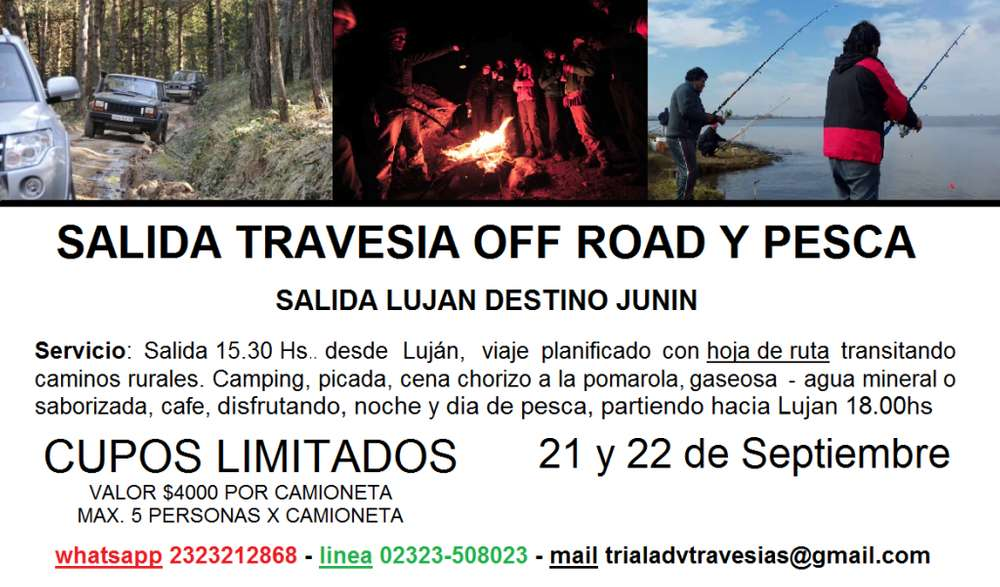TRAVESIA OFF ROAD Y PESCA