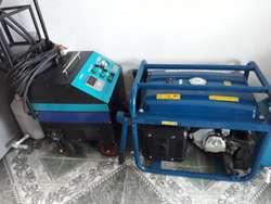 Maquina a vapor industrializada y planta electrica