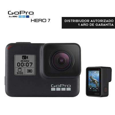 Cámara Gopro Hero7 Black Táctil Vídeo 4k, 12mp, Live Stream, Estabilizador, Agua 10m