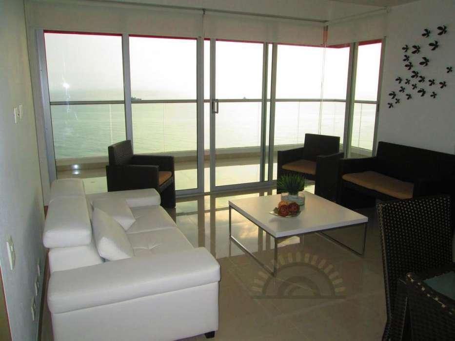 Apartamento 3 habitaciones amoblado frente al mar en Pozos Colorados