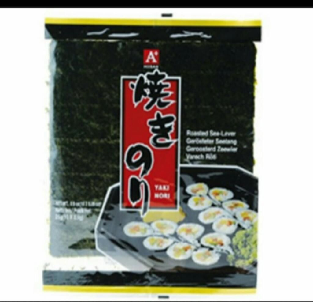 Algas Nori para Maki Sushi roll X 10unid comida cocina corea japon china