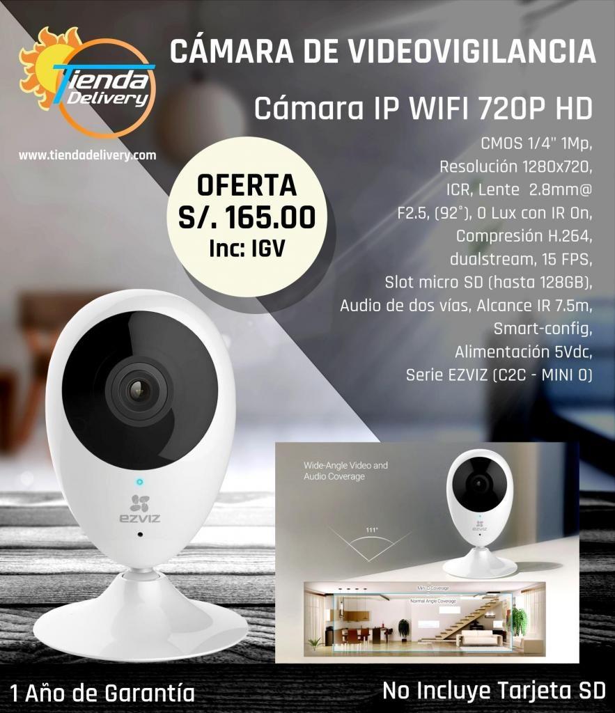Camara Ip Videovigilancia Wifi HD Recepcion y Envio de Audio en Tiempo Real
