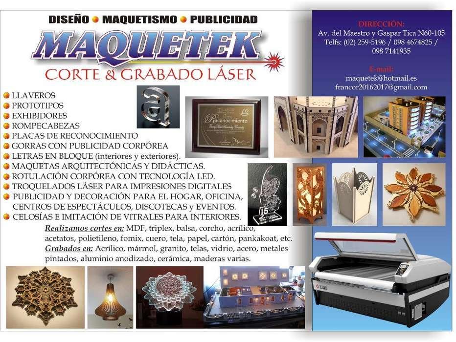 Corte Y Grabado Láser / Publicidad