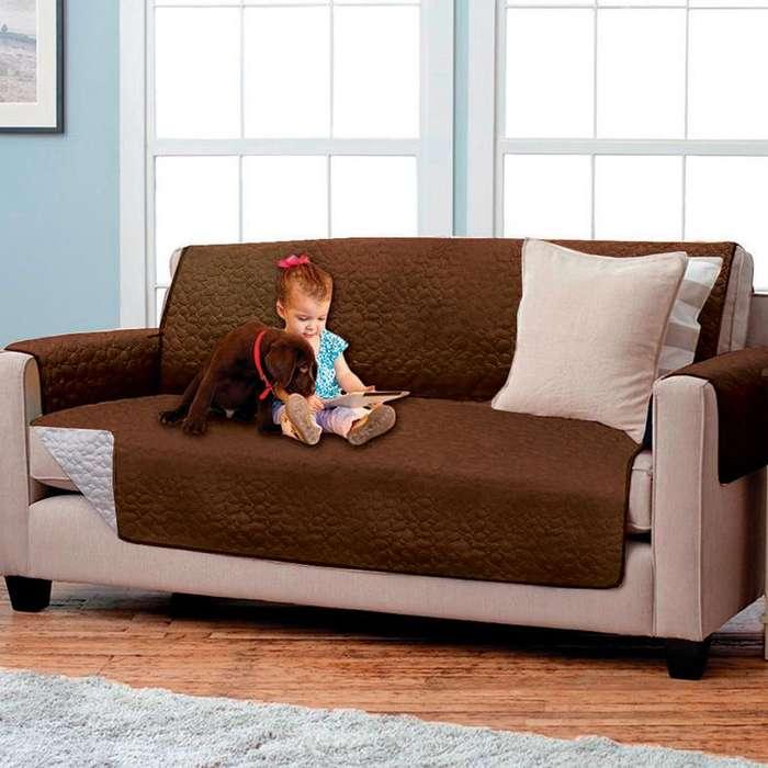 Forro protector de sofá y muebles reversible 3 puestos Energy Plus