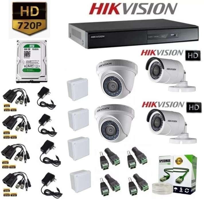 Kit Hikvision 4ch Súper Precio