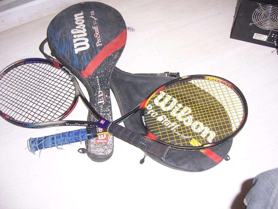 raquetas de tenis wilson pro satff 5.7 y 6.1 4000 las 2 2500 cada una