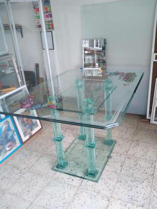 Mesa <strong>comedor</strong> en cristal, Whatsapp 3187715465