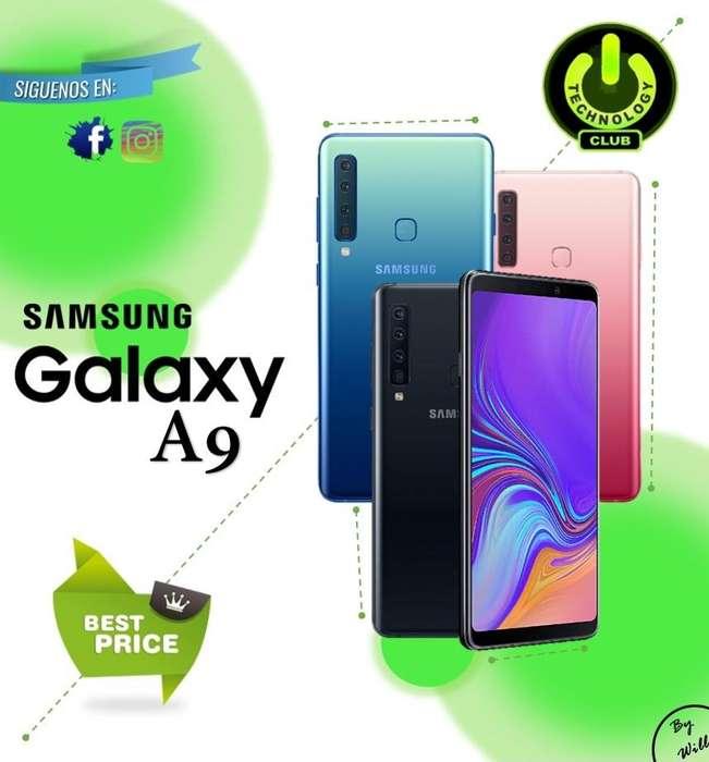 Cyber WOW A9 Samsung A9 128 rom Celulares sellados y libres Garantia 12 meses / Tienda Fisica Centro Trujillo