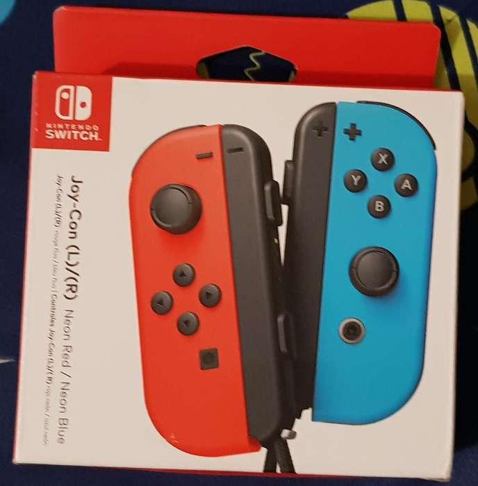 Joycon Switch Neon Rojo Azul Sellados