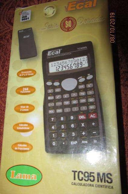 Vendo <strong>calculadora</strong> científica Ecal