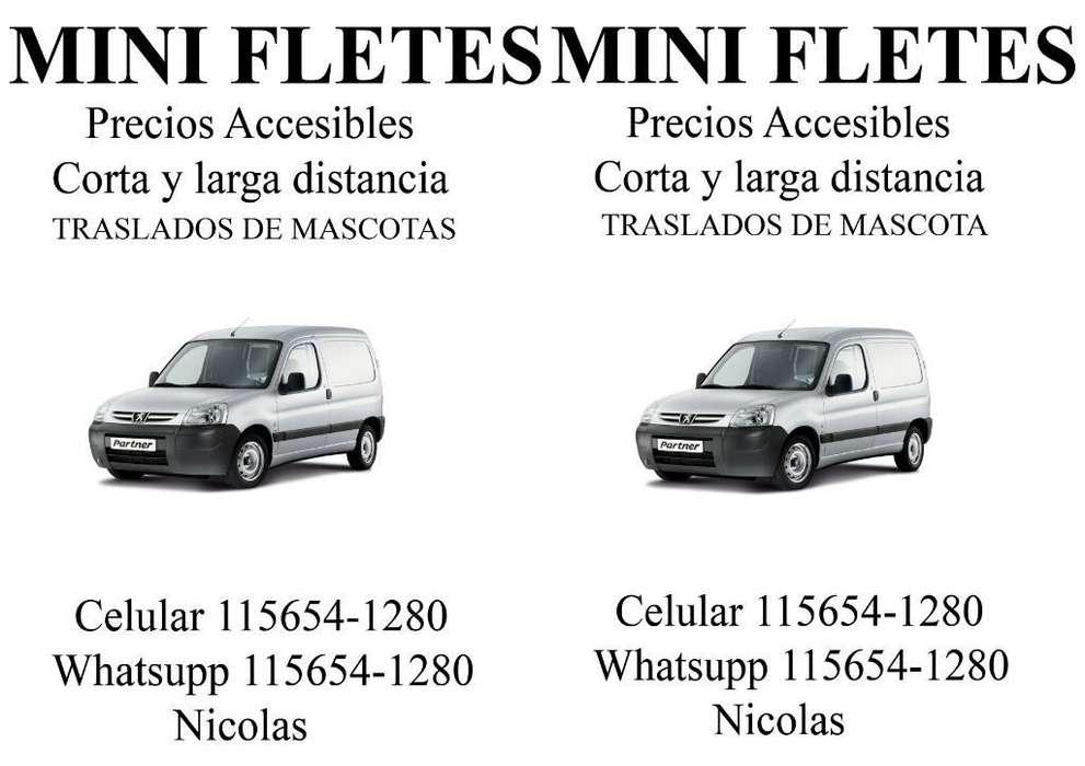 Mini Fletes precios accesibles Min 90 zona Sur 1156541280