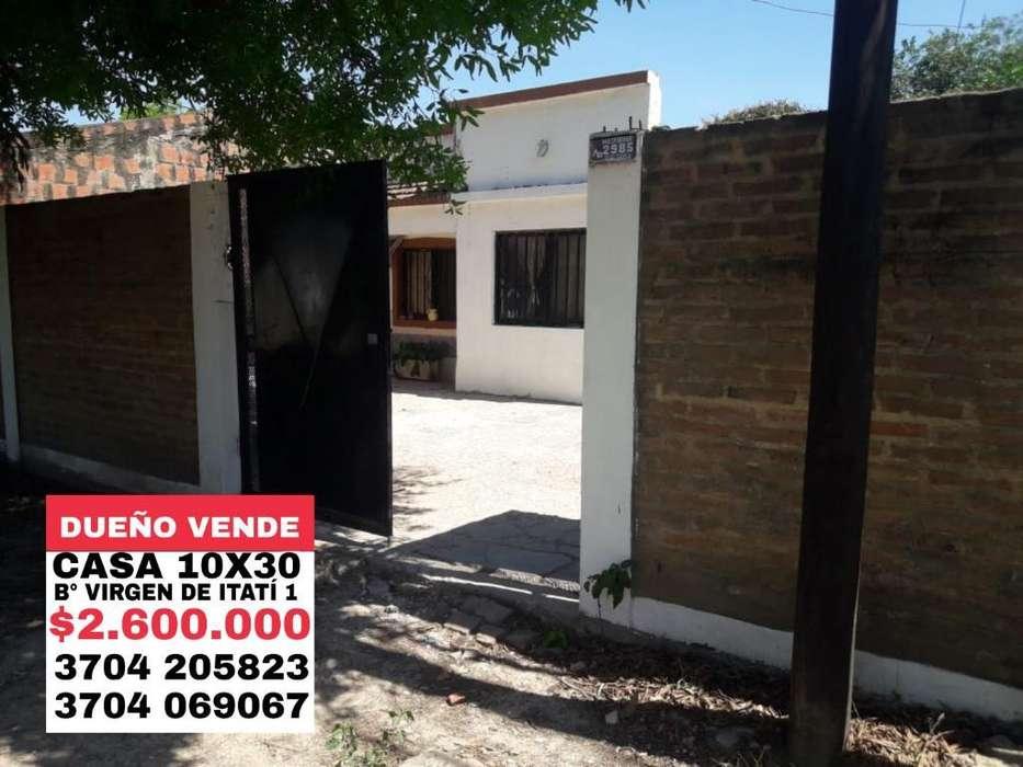 Dueño Vende Casa en Formosa Cap. (10x30)