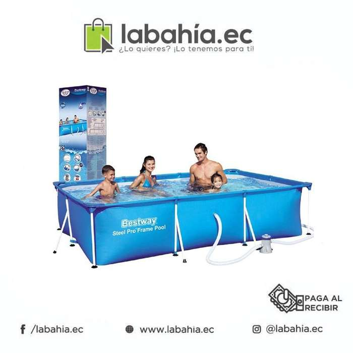Piscina Tubular Rectangular Intex 220cmX150cmX60cm