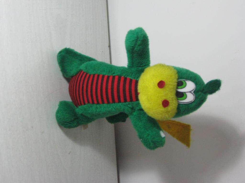Dragón de peluche verde 80