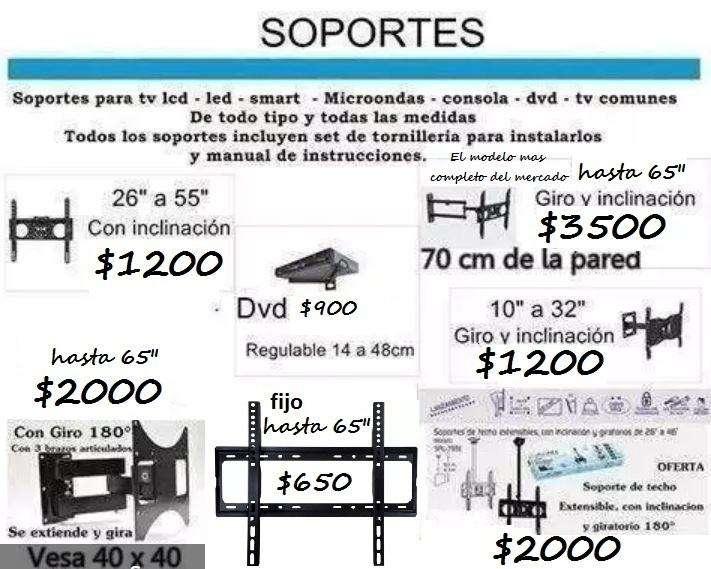 "Soportes para tv lcd led smart tv fijo hasta 50"""