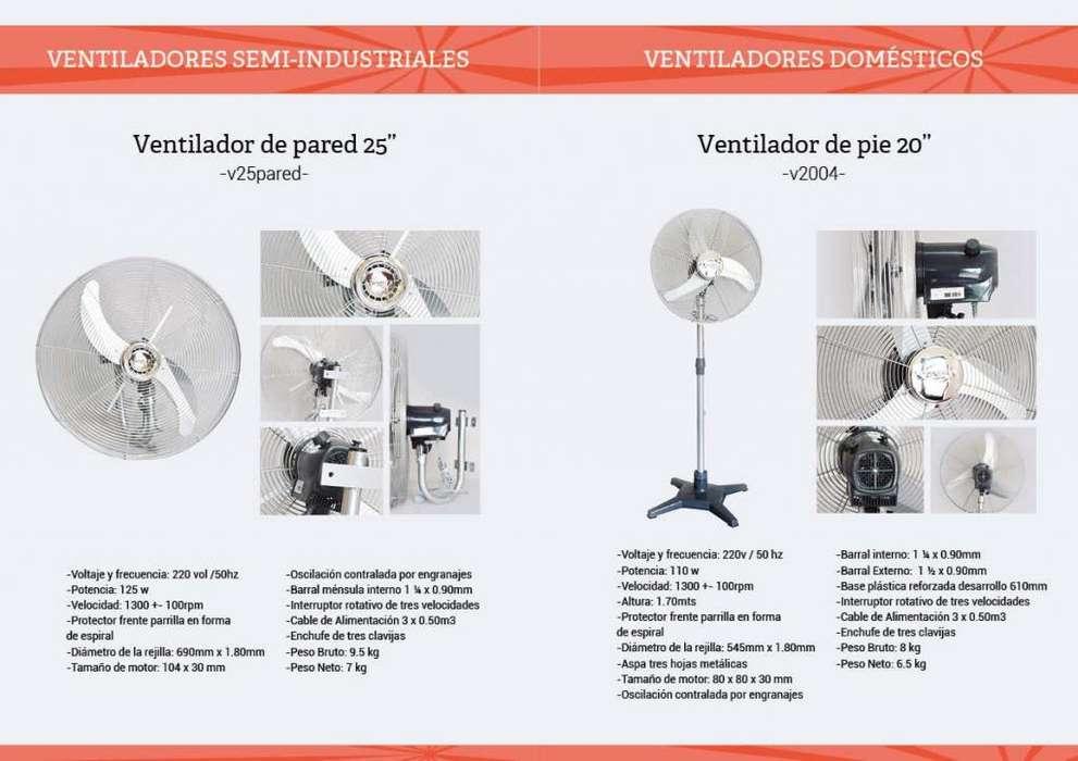 ventiladores Domesticos e industriales