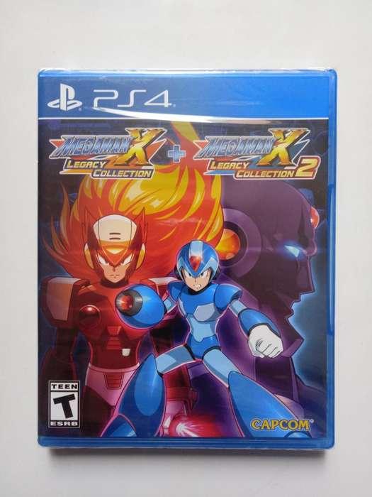 Juego Megaman X Legacy Collection para PS4 Nuevo y Sellado