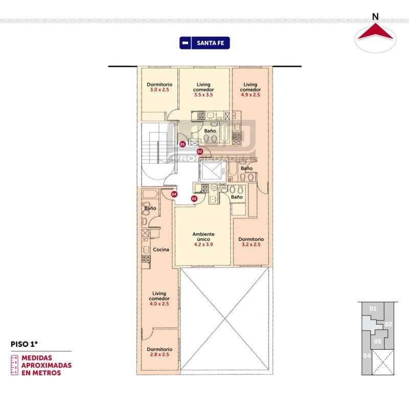 Santa Fe y Callao - Amplio Dpto de 1 Dormitorio Externo. Cochera disponible. Vende Uno Propiedades