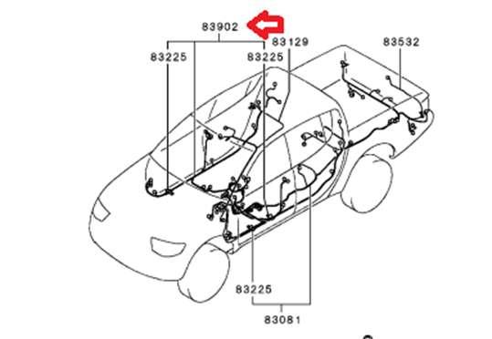 MAZO CABLE - MIT8510C156 - Mitsubishi L200 Chasis (KB4T) Año (2007 al 2009)