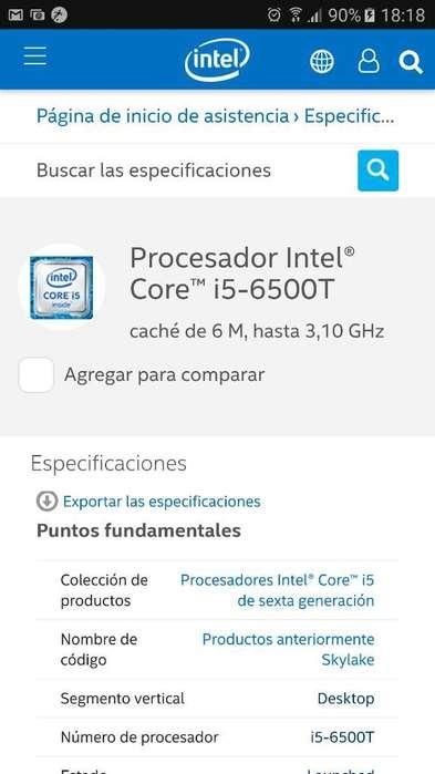 Procesador I5 6500t