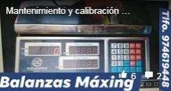 Balanzas Maxing venta de balanzas, Mantenimiento y calibracion