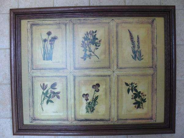 Cuadro de madera con imagen de plantas y flores - Se retira x Belgrano (C.F.)