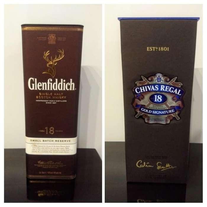 Caja Vacía Whisky Glenfiddich Y Chivas