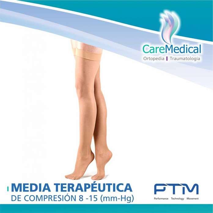 Media Terapeutica De Compresion hasta el Muslo 8-15 (Mm-Hg)- Venomed - PTM - Ortopedia Care Medical