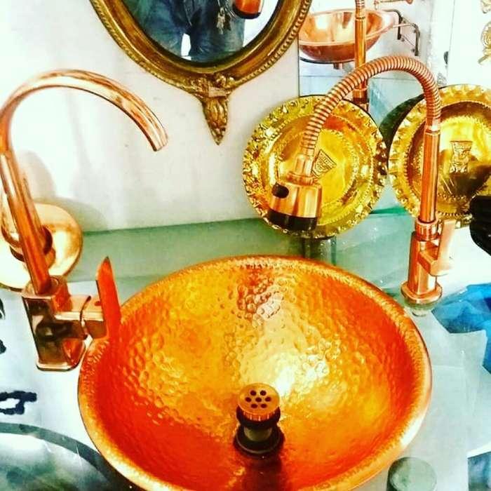 Lavamanos en Cobre Puro