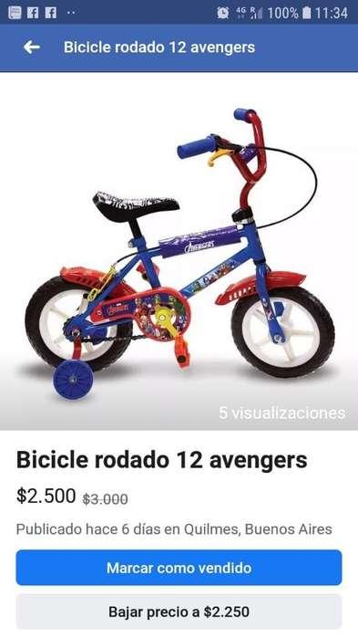 Bicicleta Avengers R12 Excelente Estado