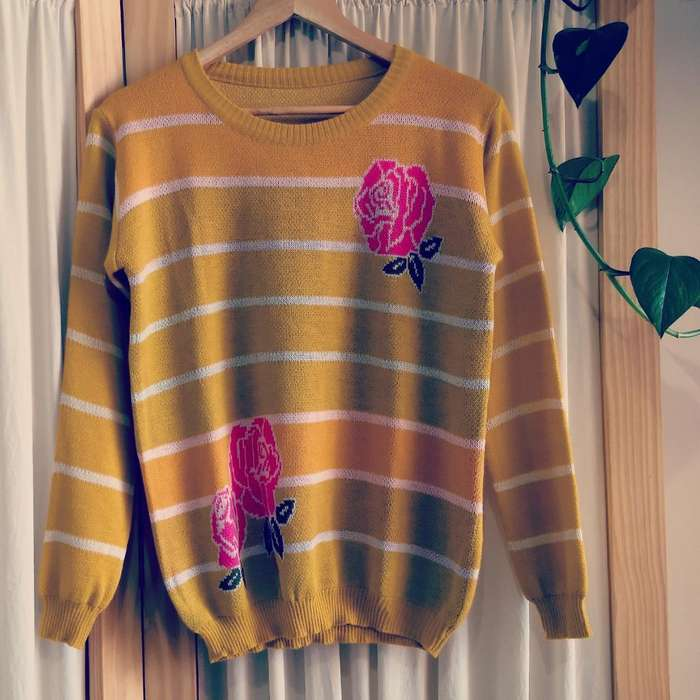 Sweater Jacquard Mostaza