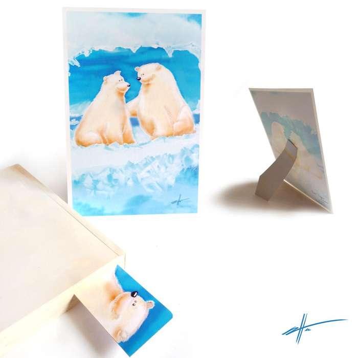 Dibujo impreso decorativo Osos Polares