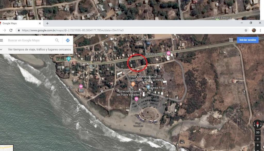 Venta, solar de 300 m2 Vía Playas-Posorja, al pie de la Vía