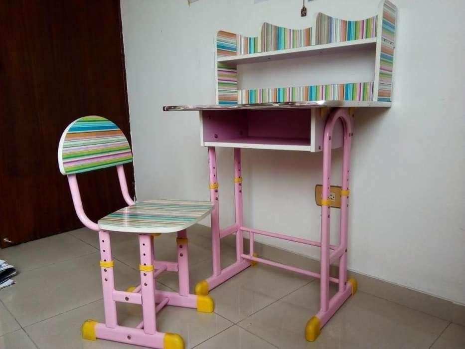 <strong>escritorio</strong> para niña con silla, graduable