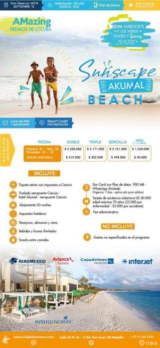 Viaje como un Rey a Cancún H. SUNSCAPE AKUMAL BRACH con Viajes la Corona