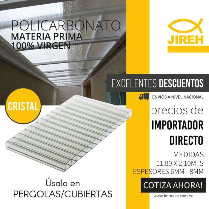 Policarbonato Jireh Cristal de 6mm en Guayaquil, Techos, Alucobond, Acrílico, Cielo raso PVC